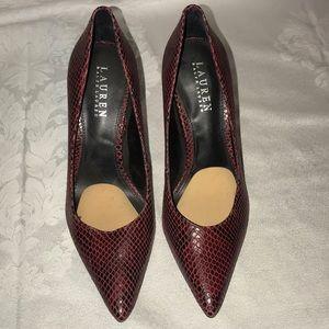 Lauren Ralph Lauren heels pumps burgundy Sz 8.5B